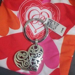 Brighton key chain 'Madrid Heart' NWT